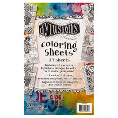 Ranger Dylusions Colouring Sheets 5 x 8 Inches Collection 1