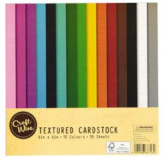 Uniti Textured Card 30 Sheets Multi-Coloured 6in x 6in