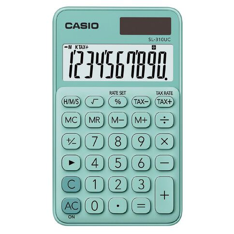 Casio MS20UCGN Desktop 12 Digit Calculator Green