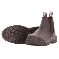 Bison Trade Slip-On Safety Boot With Steel Toecap Size 9