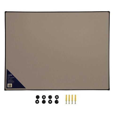 Litewyte Grey Fabric Pinboard 900mm x 1200mm