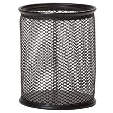 WS Mesh Pencil Holder Black