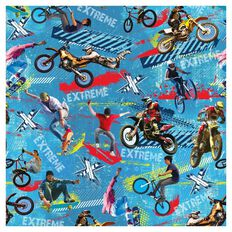 SKINZ Boys' Design Book Cover Multi-Coloured