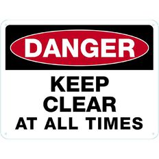 WS Danger Keep Clear Sign Large 450mm x 600mm