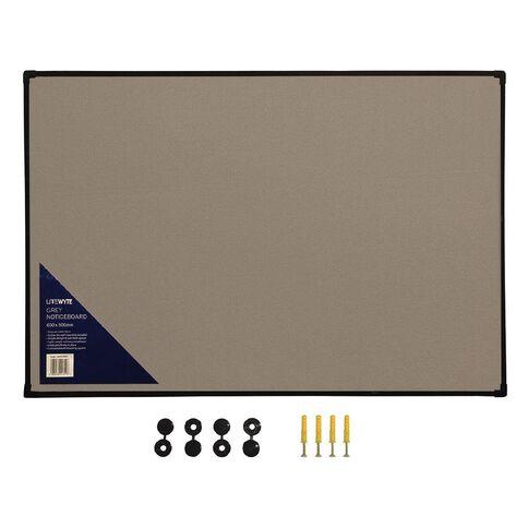 Litewyte Grey Fabric Pinboard 600mm x 900mm