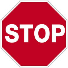 WS Stop Sign Small 340mm x 340mm