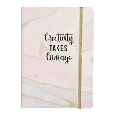 Uniti Creativity Takes Courage PU Notebook A5