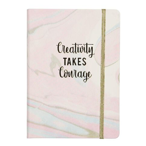 Uniti Creativity Takes Courage PU Notebook A5