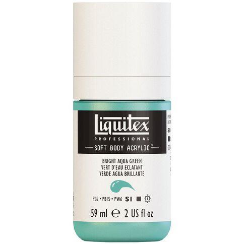 Liquitex Soft Body Acrylic 59ml Bright Aqua Green S1