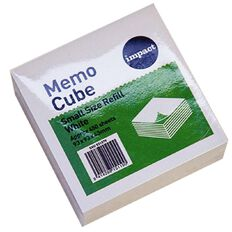 WS Memo Cube Refill Small 97 x 97mm White