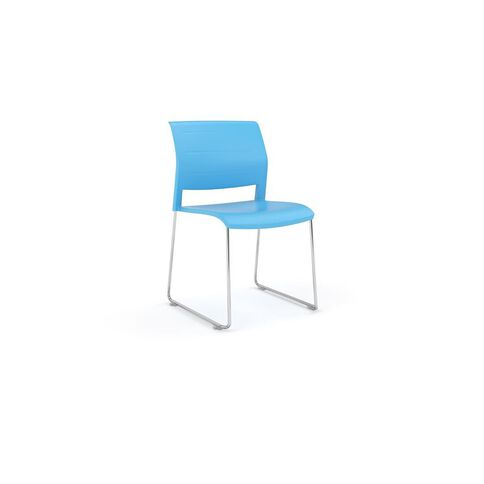 Game Chrome Skid Chair Aqua Aqua