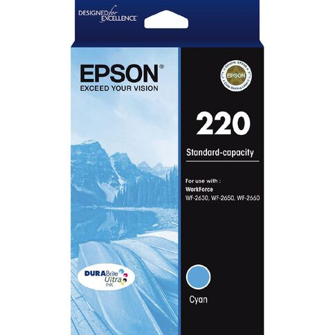 Epson Ink 220 Cyan (165 Pages)