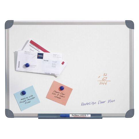 Quartet Penrite Magnetic Whiteboard 900 x 600 Aluminium Frame White