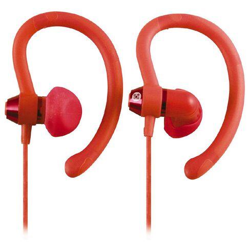 Moki Sports Earphones 90 Degrees Peach