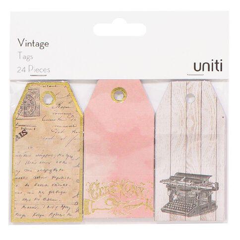 Uniti Vintage Tag 24 Piece