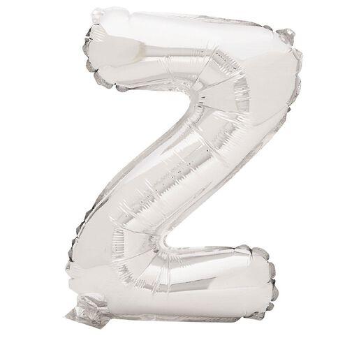 Artwrap Foil Balloon Z Silver 35cm