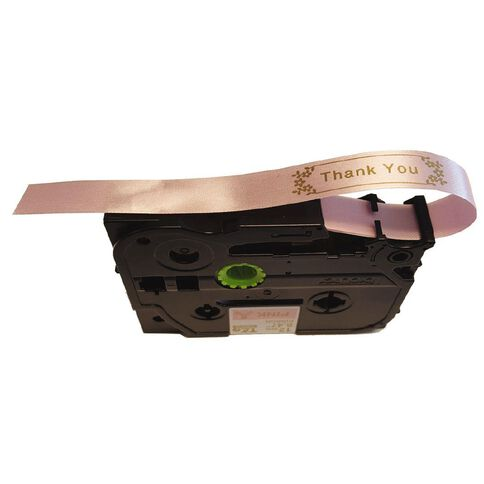 Brother Ribbon Tape 12mm x 4m Gold On