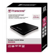 Transcend External Slim 8x DVD Writer Extra Slim Black