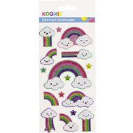Kookie Sticker Sheet Puffy Glitter Assorted