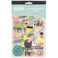 SKINZ Sticker Book Summer Fun Foil 25cm x 15cm 6 Page
