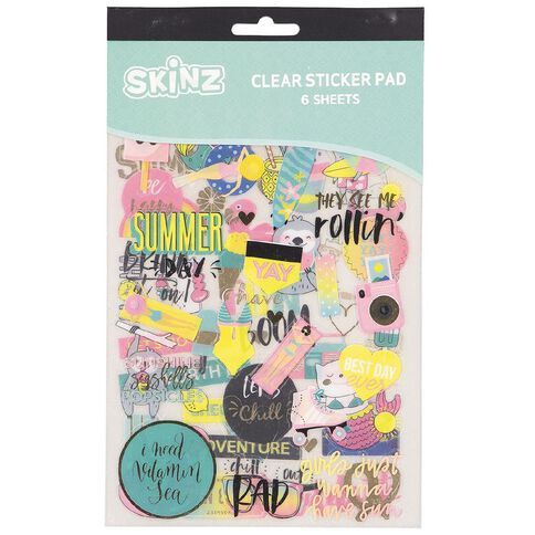 SKINZ Sticker Book Summer Fun Foil 25cm x 15cm 6 Page