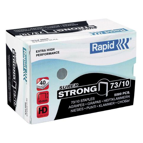 Rapid Staples 73/10 5000 Pack Silver