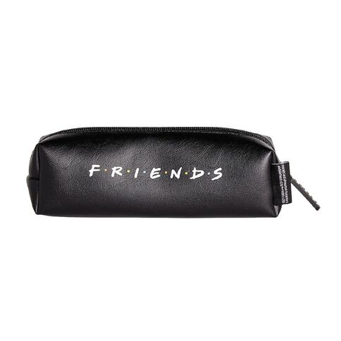Warner Bros. Friends PU Barrel Pencil Case Black