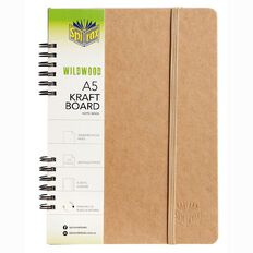 Spirax Notebook 511K Wildwood Natural 200 Brown A5