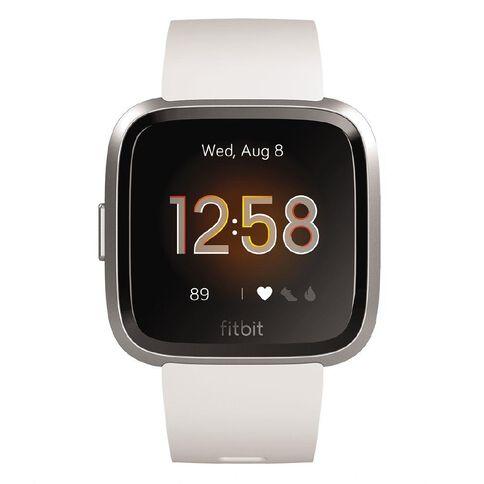 Fitbit Versa Lite White Silver Aluminum