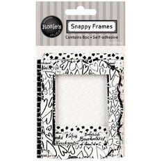 Rosie's Studio Snappy Frames 8 Pack Black/White