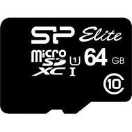 Silicon Power Elite 64GB Class 10 MicroSDxc Card Black