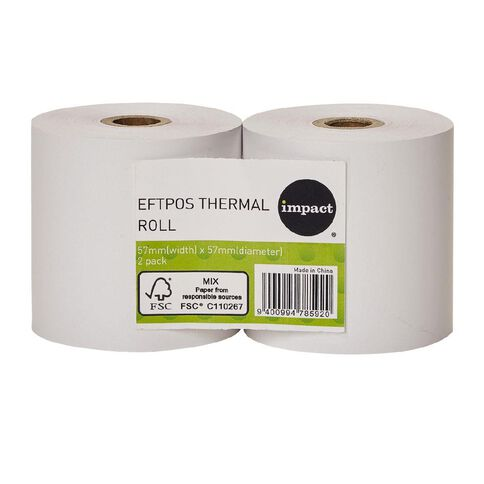 Impact Eftpos Roll 57 x 57mm Twin Pack FSC Paper