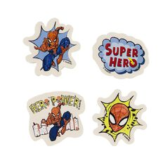 Spider-Man Novelty Eraser 4 Pack
