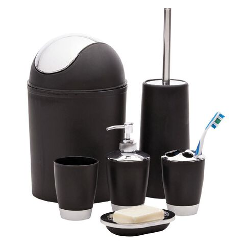 Living & Co Toilet Brush Set Black