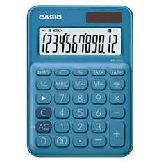 Casio MS20UCBU Desktop 12 Digit Calculator Blue