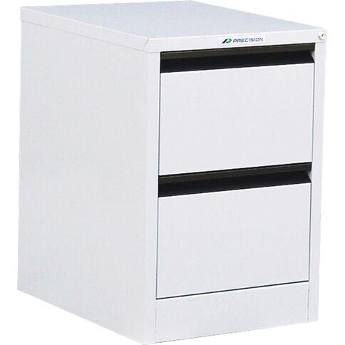 Precision Classic Filing Cabinet 2 Drawer White Satin