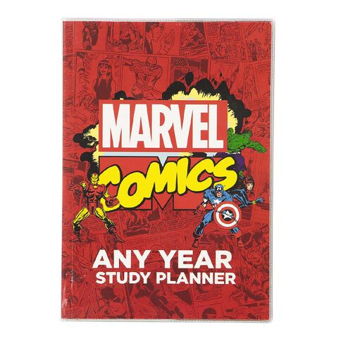 Marvel Kids Avengers Any Year Study Planner Red