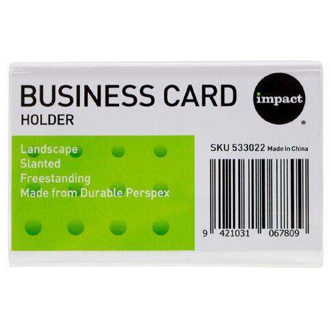 Impact Slanted Landscape Business Card Clear