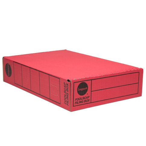Impact Storage Box Foolscap Red