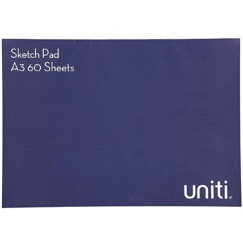 Uniti Sketch Pad 60 Sheets A3