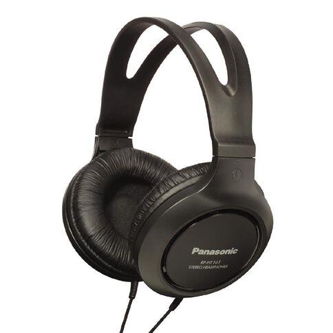 Panasonic Full Size Av Style Headphones RP-HT161E Black
