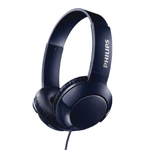Philips On Ear Bass+ Headphones Blue