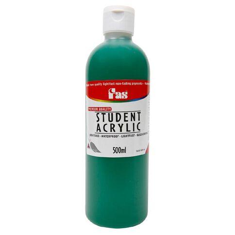 FAS Paint Student Acrylic 500ml Deep Green Green 500ml
