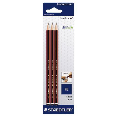 Staedtler Tradition Pencil Hb 3 Pack Black