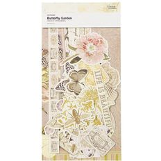 Couture Creations Butterfly Garden Ephemera Pack