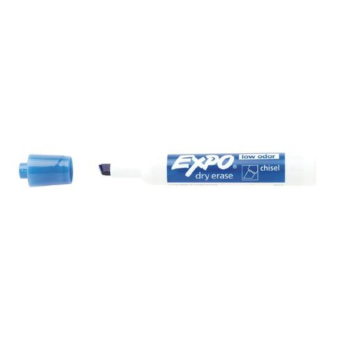 Expo Whiteboard Marker Low Odour Chisel Blue