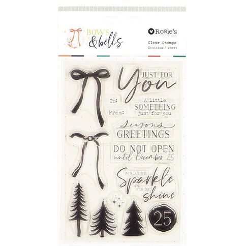 Rosie's Studio Bows & Bells Clear Stamps Tags