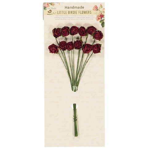 Little Birdie Flowers Helena Rose Bunch 15mm 12 Piece