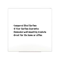 Boyd Visuals Lacquered Whiteboard 1200 x 1200mm White