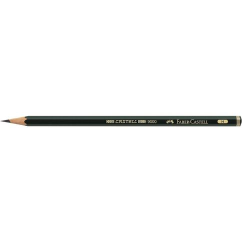 Faber-Castell 9000 Artist Pencil H Black